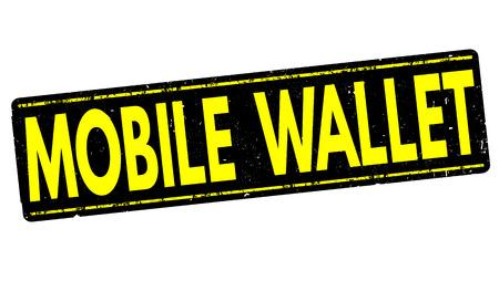 value system: Mobile wallet grunge rubber stamp on white background, vector illustration