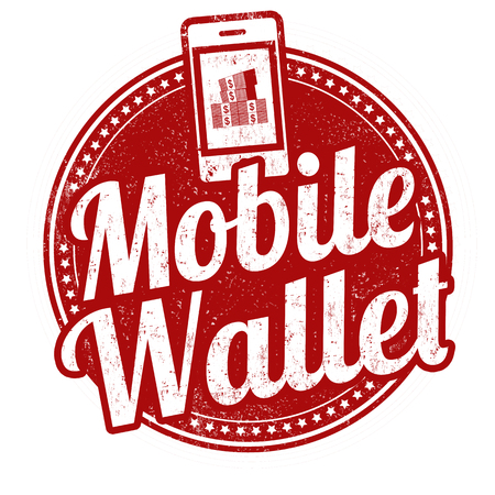 swindle: Mobile wallet grunge rubber stamp on white background, vector illustration