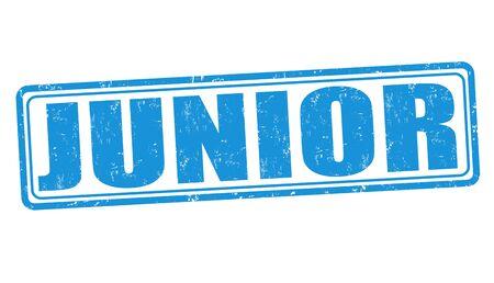 junior: Junior grunge rubber stamp on white background, vector illustration