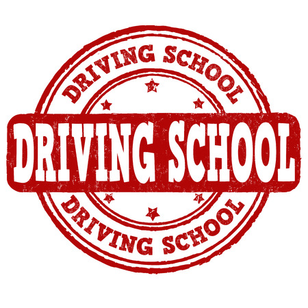 Fahrschule Grunge-Stempel auf weißem Hintergrund, Vektor-Illustration Vektorgrafik