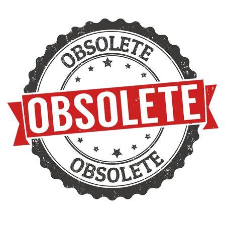 Obsolete grunge rubber stamp on white background, vector illustration