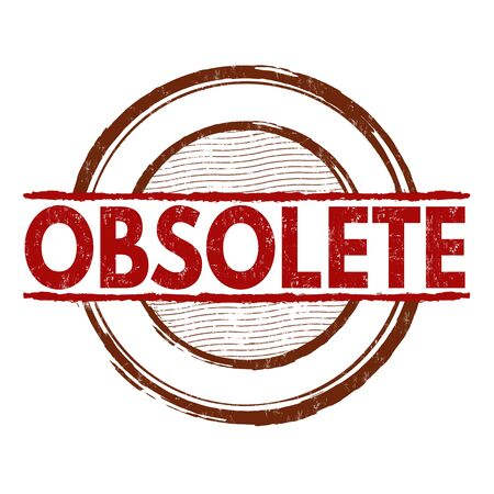 obsolete: Obsolete grunge rubber stamp on white background, vector illustration