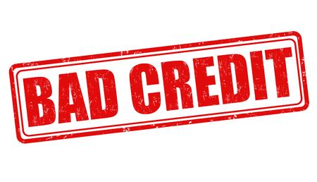 insolvent: Bad credit grunge rubber stamp on white background, vector illustration Illustration