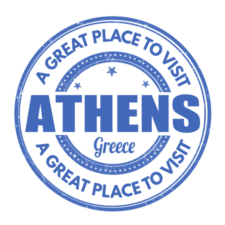 athens: Athens grunge rubber stamp on white background, vector illustration Illustration