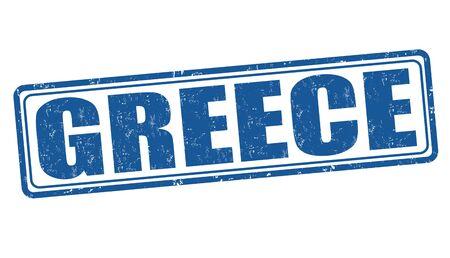greece stamp: Greece grunge rubber stamp on white background, vector illustration
