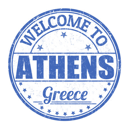 athens: Welcome to Athens grunge rubber stamp on white background, vector illustration Illustration