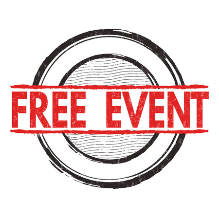 ocassion: Free event grunge rubber stamp on white background, vector illustration