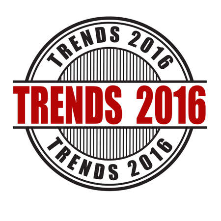 tendency: Trends 2016 grunge rubber stamp on white background, vector illustration Illustration