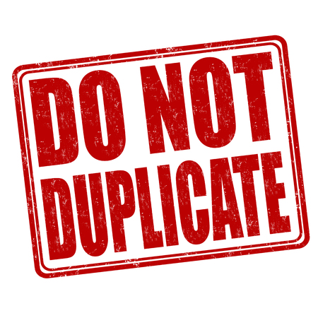 counterfeit: Do not duplicate grunge rubber stamp on white background, vector illustration