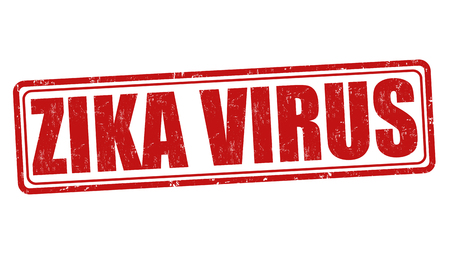 incubation: Zika virus grunge rubber stamp on white background, vector illustration