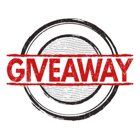 giveaway: Giveaway grunge rubber stamp on white background, vector illustration Illustration