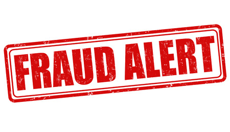 alert: Fraud alert grunge rubber stamp on white background, vector illustration