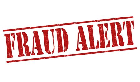 cautious: Fraud alert grunge rubber stamp on white background, vector illustration