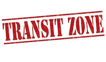 illegal zone: Transit zone grunge rubber stamp on white background, vector illustration
