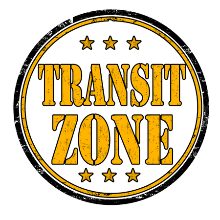 illegal zone: Transit zone grunge rubber stamp on white background, vector illustration