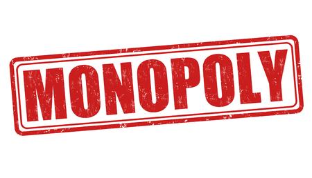 monopoly: grunge sello de goma monopolio sobre fondo blanco, ilustración vectorial