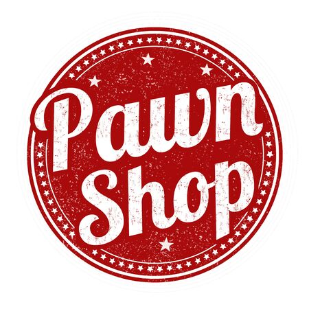 print shop: Pawn shop grunge rubber stamp on white background, vector illustration