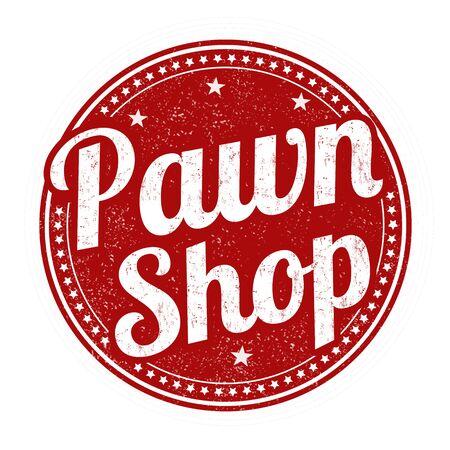 pawn shop rubber stamp grunge sur fond blanc, illustration vectorielle