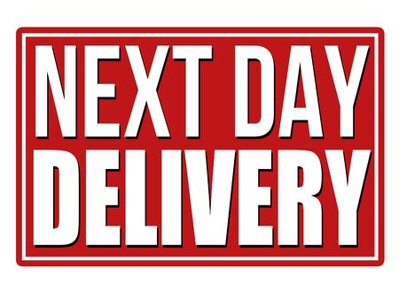 white day: Next day delivery design template on white. Illustration