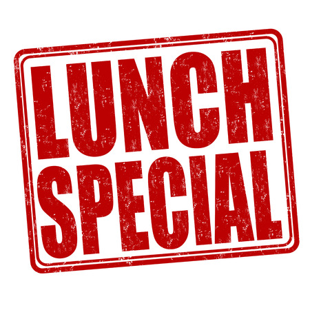 lunch: Lunch special grunge rubber stamp on white background, illustration