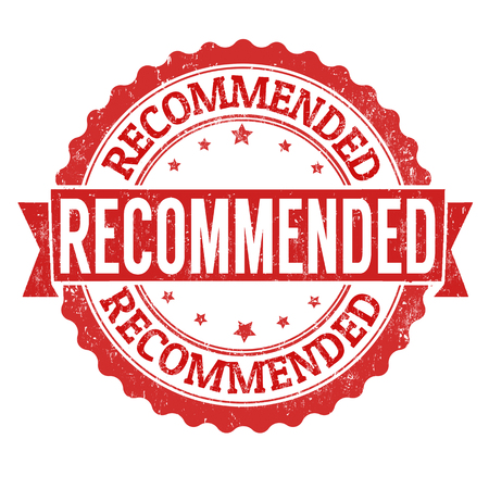 recommended: Recommended grunge rubber stamp on white background, illustration Illustration