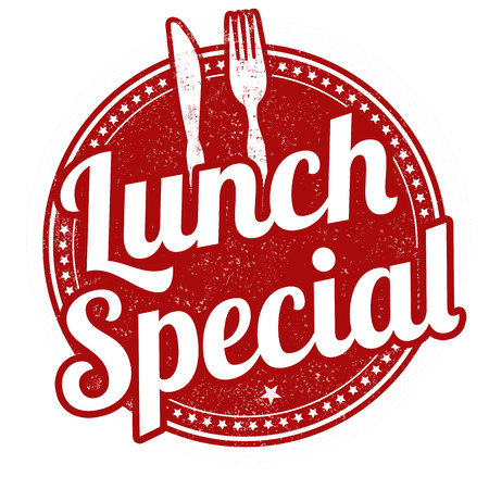 Lunch special grunge rubber stamp on white background, illustration