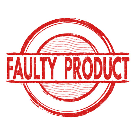 faulty: Faulty product grunge rubber stamp on white background, vector illustration