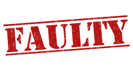 faulty: Faulty grunge rubber stamp on white background, vector illustration