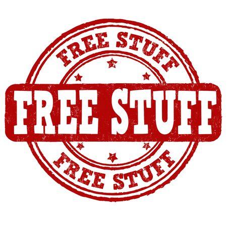 Free stuff grunge rubber stamp on white background, vector illustration