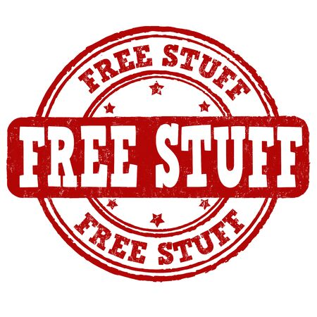 goody: Free stuff grunge rubber stamp on white background, vector illustration