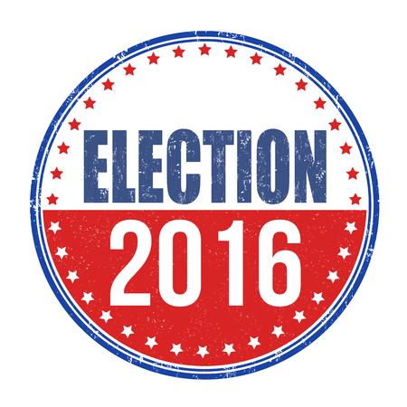 nomination: Election 2016 grunge rubber stamp on white background, vector illustration Illustration