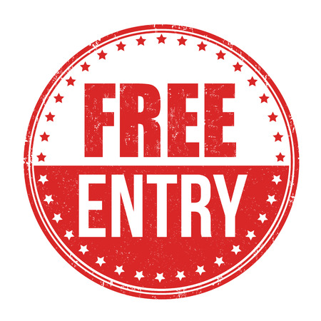 freebie: Free entry grunge rubber stamp on white background, vector illustration Illustration