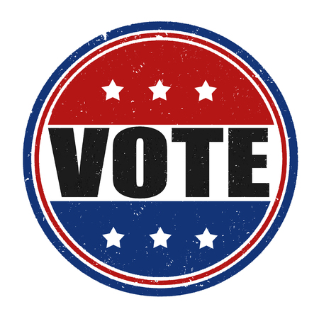 nomination: Vote grunge rubber stamp on white background, vector illustration