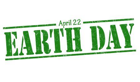 observance: Earth Day grunge rubber stamp on white background, vector illustration Illustration
