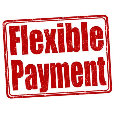 flexible: Flexible payment grunge rubber stamp on white background, vector illustration