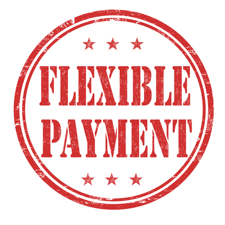 flexible business: Flexible payment grunge rubber stamp on white background, vector illustration