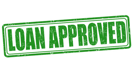 approved icon: Loan approved grunge rubber stamp on white background, illustration Illustration