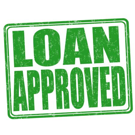 loan: Loan approved grunge rubber stamp on white background, illustration Illustration