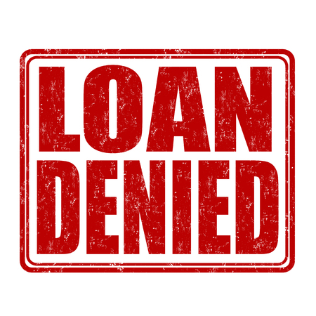 denied: Loan denied grunge rubber stamp on white background, illustration Illustration
