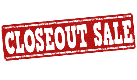 closeout: Closeout sale grunge rubber stamp on white background, vector illustration