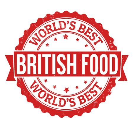 britannia: British food grunge rubber stamp on white background, vector illustration