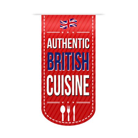 british cuisine: Authentic british cuisine banner design over a white background, vector illustration Illustration
