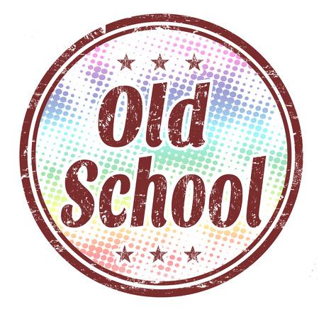 old stamp: Old school grunge rubber stamp on white background, vector illustration