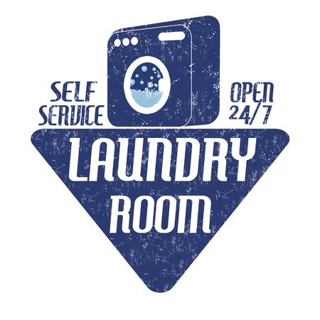 laundry room: Laundry room grunge rubber stamp on white background, vector illustration Illustration