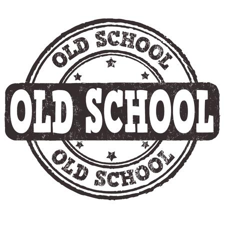 estilo: Antiguo sello de goma del grunge de la escuela en el fondo blanco, ilustración vectorial