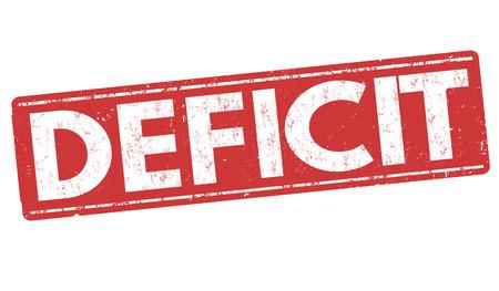 trough: Deficit grunge rubber stamp on white background, vector illustration