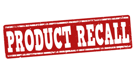 grungy header: Product recall grunge rubber stamp on white background, vector illustration Illustration