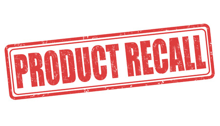 recall: Product recall grunge rubber stamp on white background, vector illustration Illustration