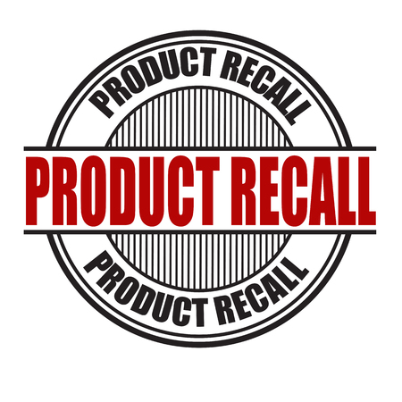 flawed: Product recall grunge rubber stamp on white background, vector illustration Illustration