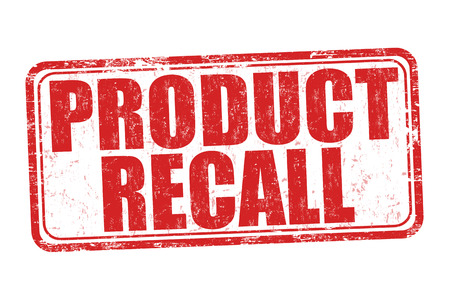 Product recall grunge rubber stamp on white background, vector illustration Vettoriali